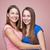affectueux · soeurs · hug · deux · cute · enfant - photo stock © tommyandone