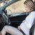 pregnant woman behind the steering wheel having contractions stock photo © tommyandone