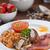 vol · Engels · ontbijt · koken · champignon · ham - stockfoto © tommyandone