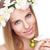 bela · mulher · cabelos · lisos · flores · belo · mulher · loira · mulher - foto stock © tommyandone