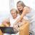 familie · ziek · grootmoeder · verpleeginrichting · zoon - stockfoto © tommyandone