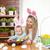famille · heureuse · fleurs · bébé · garçon · maison · famille - photo stock © tommyandone