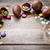 chocolate easter eggs and sweets on wooden background stock photo © tommyandone