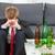 deprimido · empresário · bêbado · casa · vazio · garrafas - foto stock © tommyandone