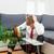 empresário · adormecido · sofá · branco · homem · terno - foto stock © tommyandone