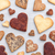 love concept variety of heart cookies on grey background stock photo © tommyandone