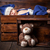 sweet little newborn inside a wooden crate stock photo © tommyandone