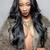 mooie · afrikaanse · vrouw · lang · krulhaar · paars - stockfoto © tommyandone