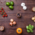 bife · vagens · alho · batatas · prato · faca - foto stock © tommyandone