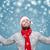 natal · colete · branco · sorridente - foto stock © tommyandone