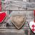 liefde · harten · opknoping · string · shot · houten - stockfoto © tommyandone