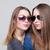 estúdio · jovem · gêmeo · irmãs · feliz - foto stock © tommyandone