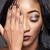 atraente · africano · mulher · longo · cabelos · cacheados · moda - foto stock © tommyandone