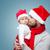 gyönyörű · kicsi · baba · fiú · karácsony · mikulás - stock fotó © tommyandone