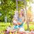 fiatal · anya · játszik · baba · pléd · park - stock fotó © tommyandone