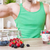 adam · lezzetli · yoğurt · taze · karpuzu · sağlıklı · beslenme - stok fotoğraf © tommyandone