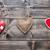piros · mintázott · szívek · akasztás · fehér · esküvő - stock fotó © tommyandone