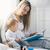 ребенка · образование · счастливым · матери · сидят - Сток-фото © tommyandone