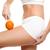 mulher · laranja · perfeito · pele · mão - foto stock © tommyandone