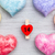 love concept colorful hearts on grey background stock photo © tommyandone