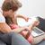 genç · kadın · kanepe · sipariş · çevrimiçi · bilgisayar · Internet - stok fotoğraf © tommyandone