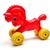vermelho · roda · cavalo · madeira · metal - foto stock © tony4urban