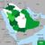 mapa · Arábia · Saudita · político · vários · abstrato · mundo - foto stock © tony4urban