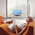 woman relaxing and watching tv stock photo © toocan