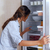 woman looking in the fridge stock photo © toocan