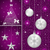 natal · árvore · estrelas · prata · flocos · de · neve - foto stock © toots