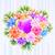 paars · liefde · hart · gestreept · moeders - stockfoto © toots