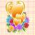 goud · harten · bloemen · liefde · controleren · moeders - stockfoto © toots