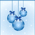 azul · natal · arcos · decorado · flocos · de · neve - foto stock © toots