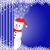 boneco · de · neve · atrás · cortina · flocos · de · neve · estrelas · profundo - foto stock © toots