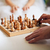 casal · jogar · xadrez · casa - foto stock © traza