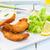 куриные · глубокий · жареная · курица · пальца · Салат · соус - Сток-фото © trexec