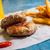 hamburger · frietjes · vork · paars · witte - stockfoto © trexec