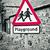 красный · площадка · дорожный · знак · небе · школы · синий - Сток-фото © trgowanlock