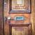 Haustür · Holz · Jahrgang · Briefkasten · home · Hintergrund - stock foto © trgowanlock