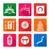 white solid flat style japanese icons set stock photo © trikona
