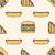 hot dog club sandwich burger colored outline seamless pattern stock photo © trikona