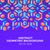 abstract geometric blue orange red jewels violet background stock photo © trikona
