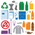 recycling and various waste color icons stock photo © trikona