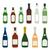 alcool · bouteilles · noir · silhouettes · blanche - photo stock © trikona
