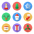 flat design christmas icons set stock photo © trikona