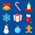 Navidad · establecer · Cartoon · ilustración - foto stock © trikona
