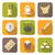 color flat style chinese tea ceremony equipment icons set stock photo © trikona