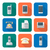 colored flat style various phone devices icons set stock photo © trikona