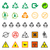 various recycle and hazardous sign set stock photo © trikona