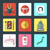flat design japanese icons set stock photo © trikona